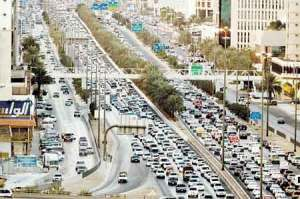 Riyadh traffic jam
